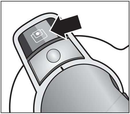 Miele S8 Airflow Indicator Ilustration