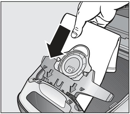 Miele S8 Vacuum Bag Illustration